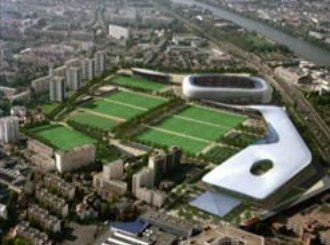 futur stade à Colombes